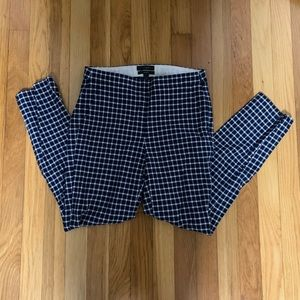 J.Crew Martie Pants in a navy and white gingham 00